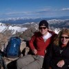 At the summit of Quandry Peak near Breckenridge, Colorado